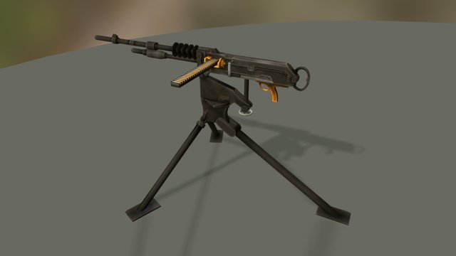 Heavy Machine Guns 3D Model