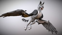"""Glide"" Creature 3D Model"