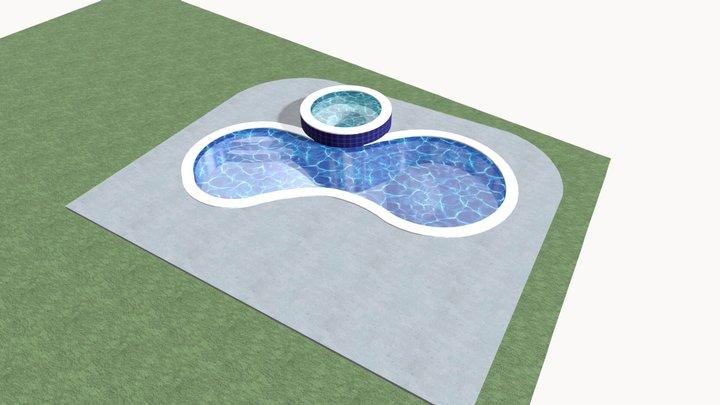 E-2 Griffin Pool- Spa PLAN 1 3D Model