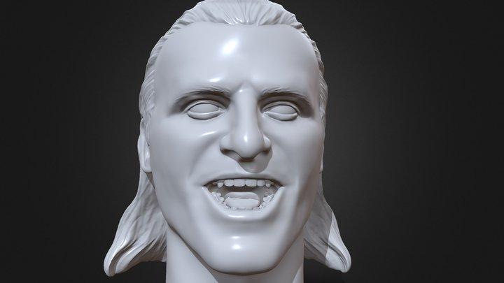 Owen Hart 3D printable portrait sculpture 3D Model