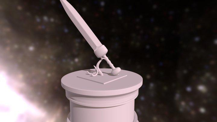 HP_sword&collumn 3D Model