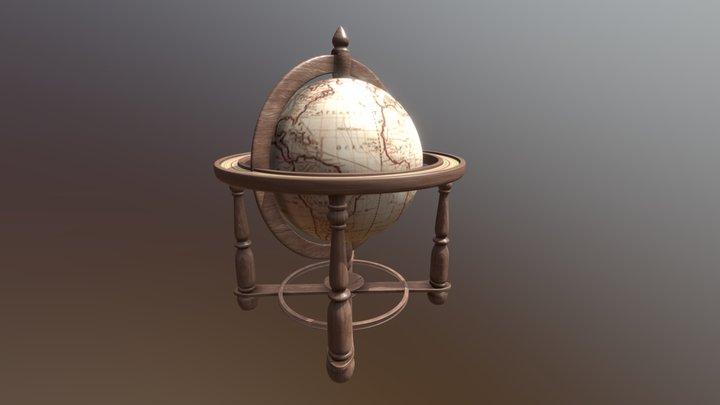 Simplistic Globe 3D Model