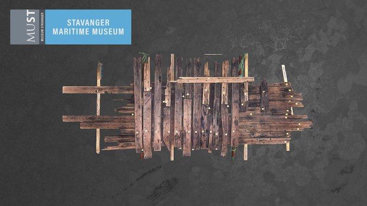 Orrestranda vrak 1800-tallet / Wreck from 1800s 3D Model