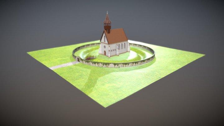 Templom vizualizacio 3D Model