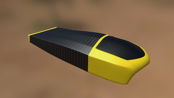 Sunrunner   University of Michigan Solar Car 3D Model