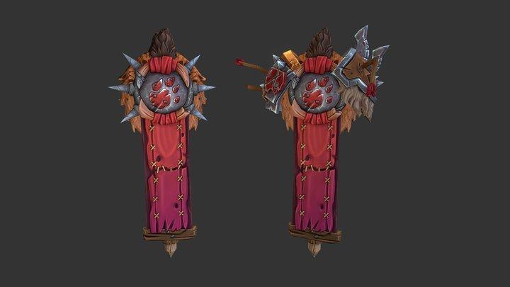 Gnoll Banner - HotS Fan Art 3D Model