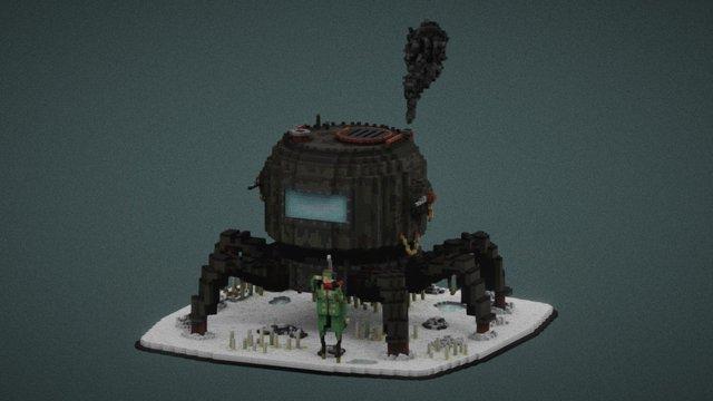 Steam mech 3D Model