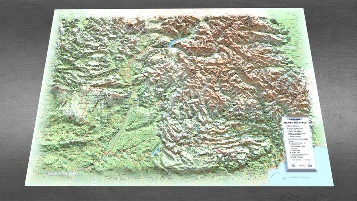 Alpes de Haute Provence 3D Model
