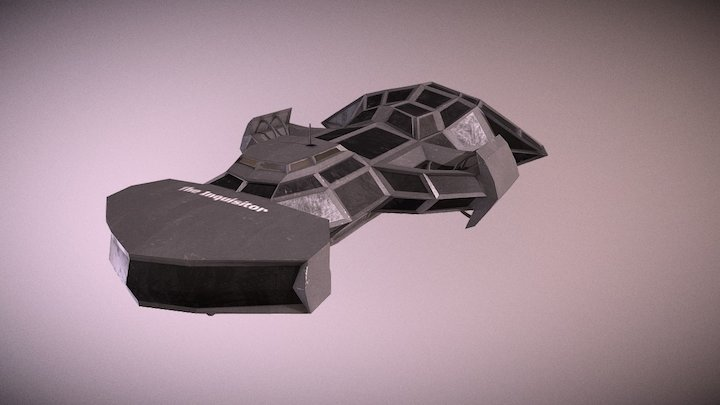 Inquisitor Frigate (Low-poly) 3D Model