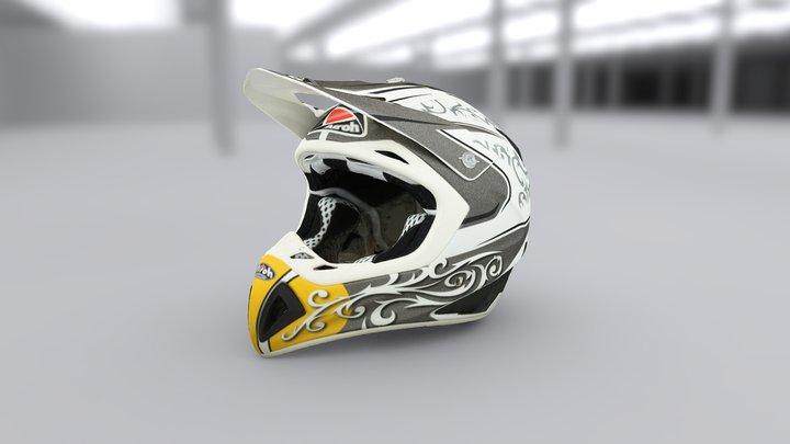 Motocross Airoh MX Helmet 3D Model