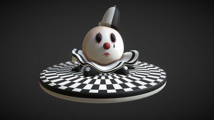 Sad Pierrot 3D Model