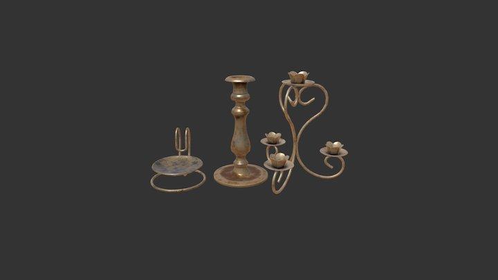 Candle holder set 3D Model