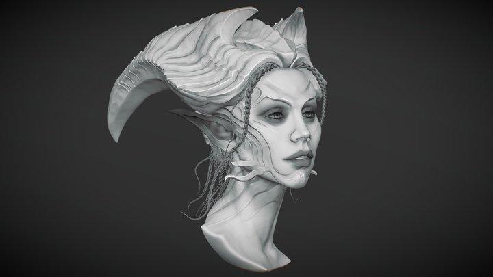 Demon Woman 3D Model