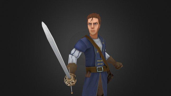 Haindpainted character 3D Model