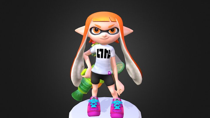 splatoon_girl 3D Model