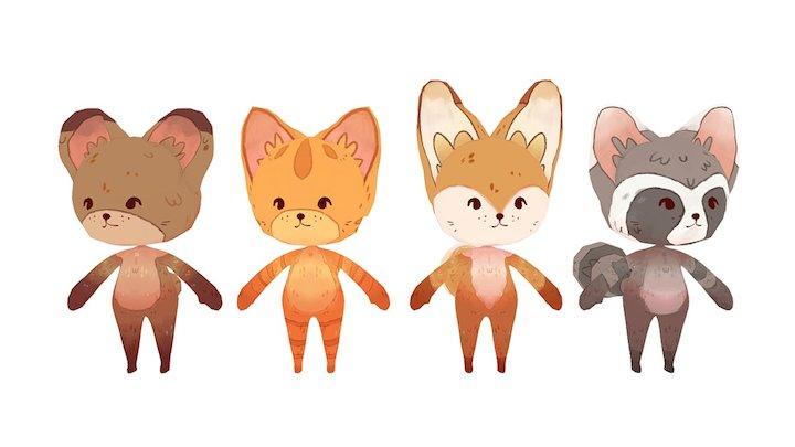 Character models v2 3D Model