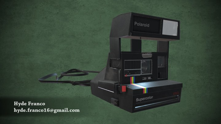 Polaroid Supercolor 635CL 3D Model