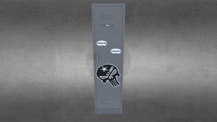 Metalcase Arma 3 - Taquilla BJ #Frontside Gaming 3D Model