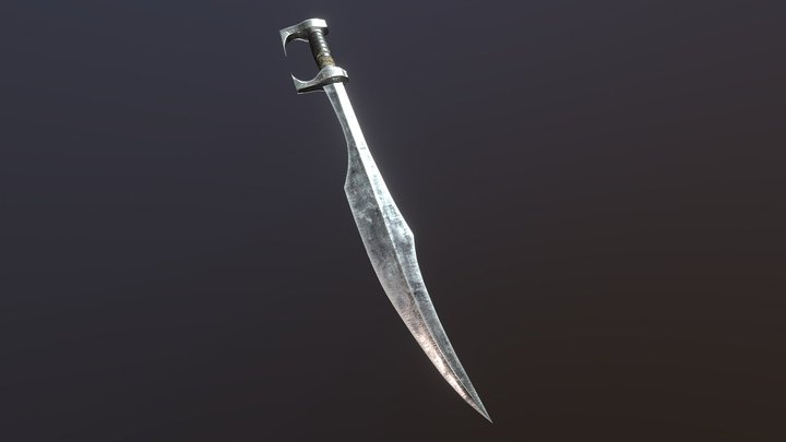 Spartan_sword (low_poly) 3D Model
