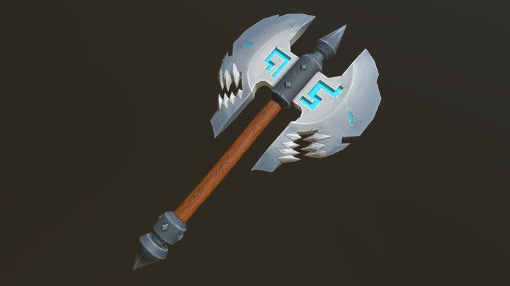 Skull Axe - Blizzard Fan-Art 3D Model