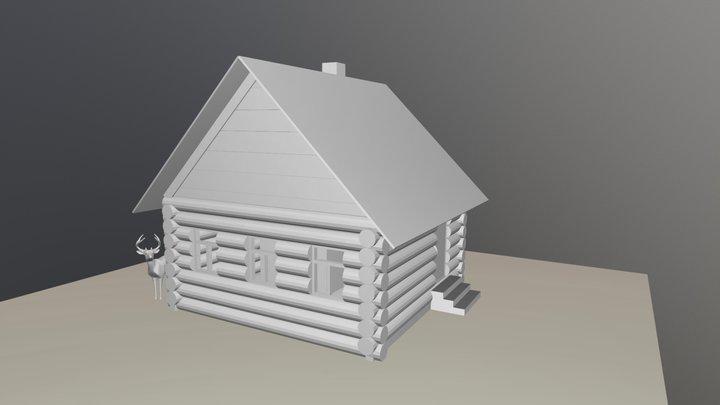Rural House - Excercise for CGCookie 3D Model