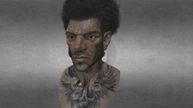 Afro Head 3D Model