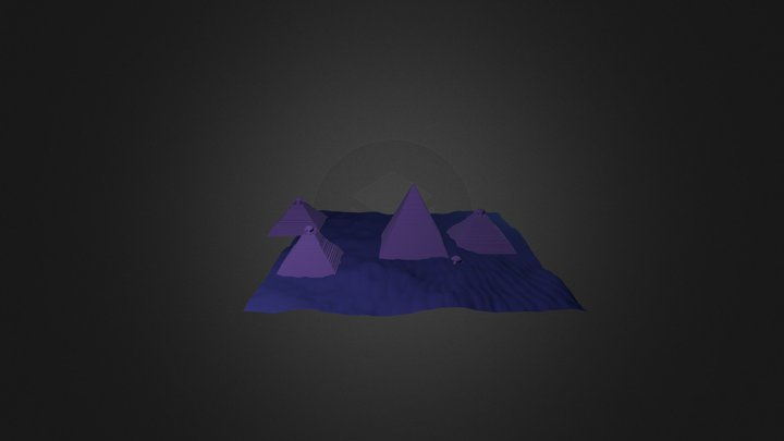 Pyramid Night 3D Model