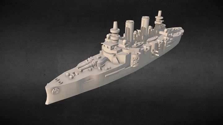 Battleship SMS Babenberg 3D Model