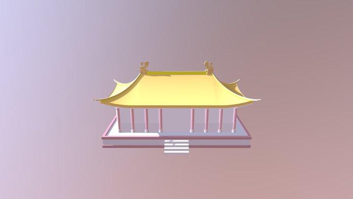 Hip Roof 3D Model