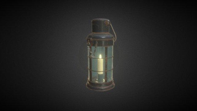 Candle Lantern 3D Model