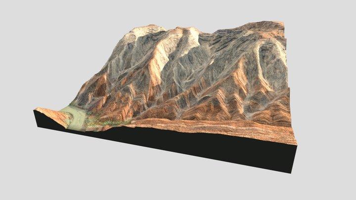 Piece of Raplee Ridge 3D Model