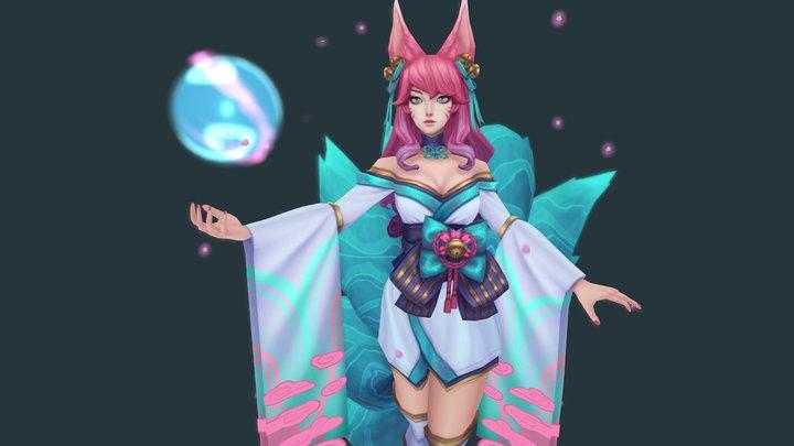 Spirit Blossom Ahri 3D Model
