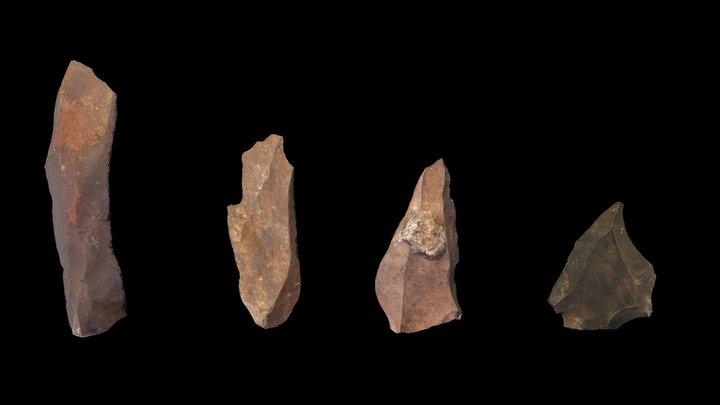 Ga-Mohana - Stone Tools 3D Model