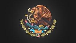 Mexican Coat of Arms | Escudo Mexicano 3D Model