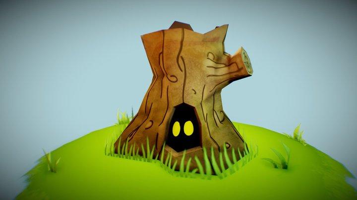 Stumpy - Wooden 3December 2019 3D Model