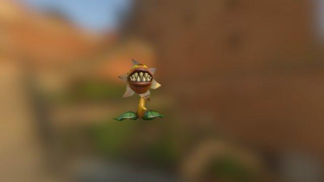 Plant Monster Fallen Animated 3D Model