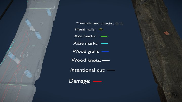 Floor timber from Czersk Schipwreck 3D Model