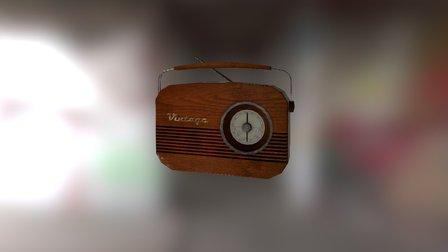 Radio Vintage 3D Model