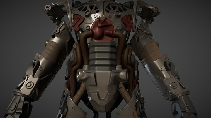 Fallout 4 Power Armor Frame for 3D print 3D Model