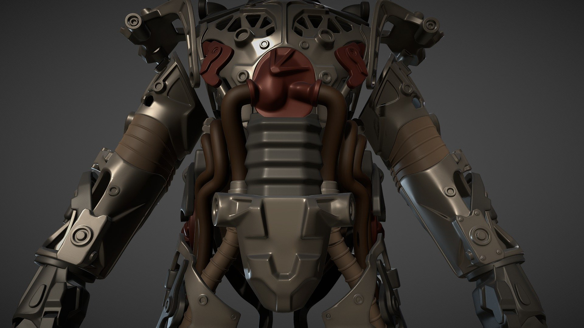 Fallout 4 Power Armor Frame For 3d Print Download Free 3d Model