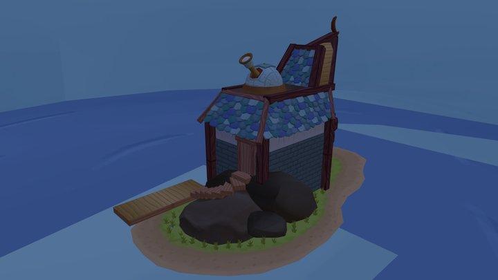 Starseeker's House on an Island 3D Model