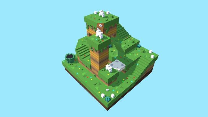 Super Mario 3D World : Captain Toad Level 3D Model