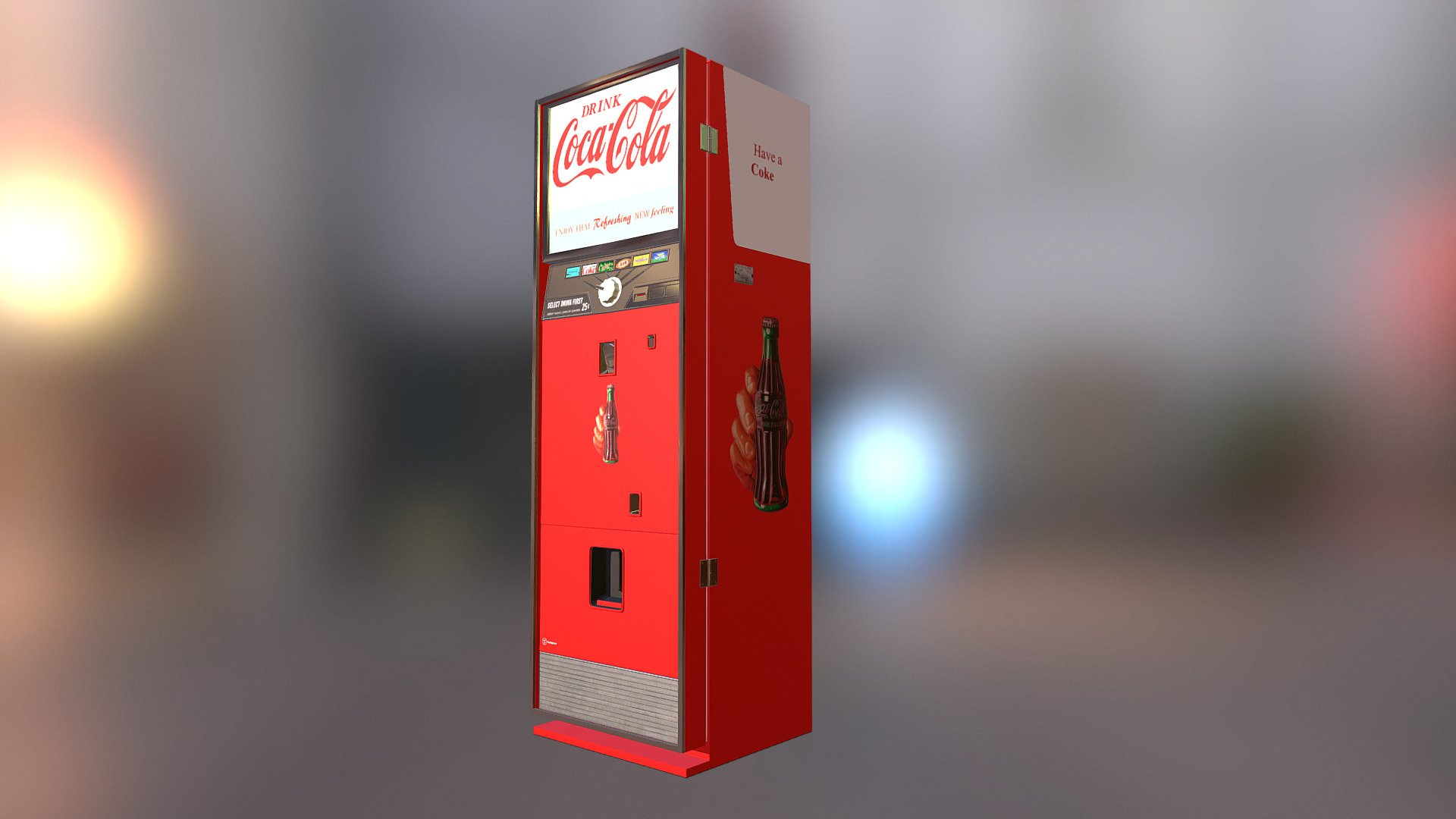 Coca-cola Vending Machine - Download Free 3D model by JFK ...