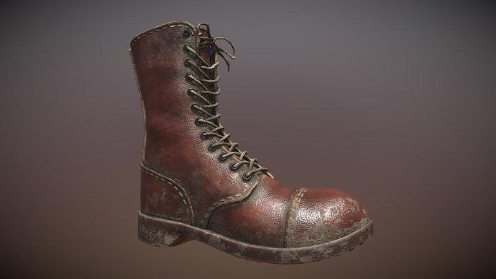 WW2 Army Boot 3D Model