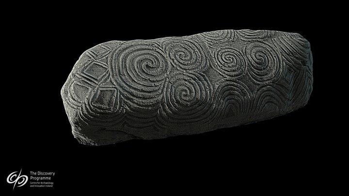 Newgrange Entrance Stone 3D Model
