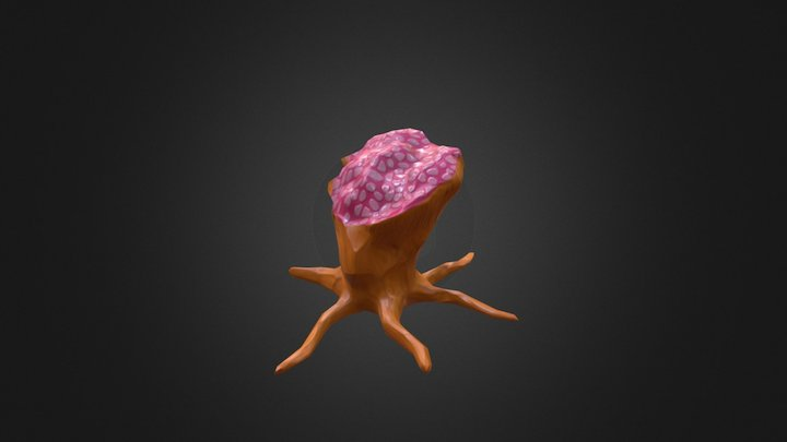 Low Poly - Alien Plant 3D Model
