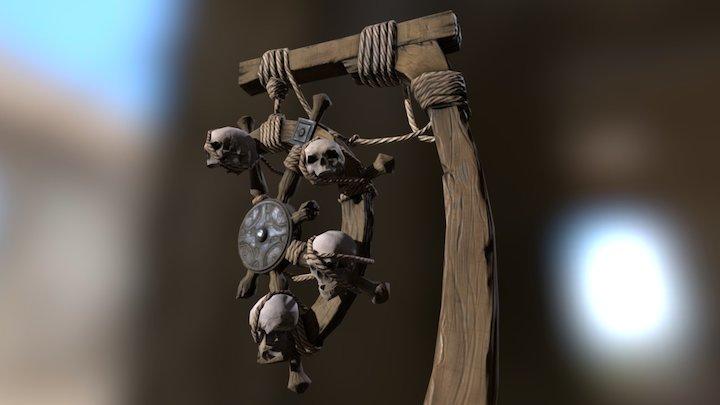 Pirate Post 3D Model