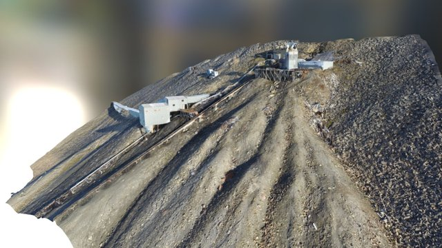 Gruve 6 Adventdalen Longyearbyen 3D Model