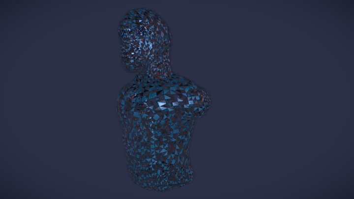 Merman Bust 3D Model