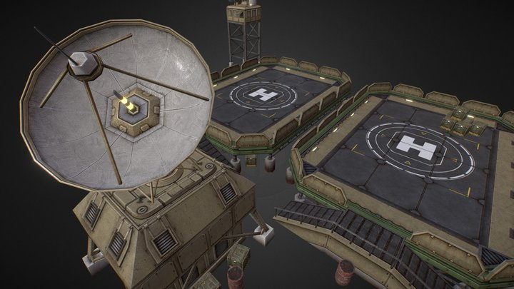 EoN Helipad 3D Model